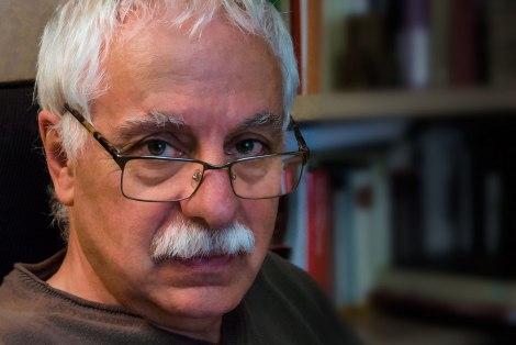Jesús Vicente Aguirre, en la Biblioteca de Sajazarra